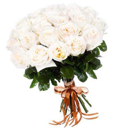 Букет из 25 пионовидных роз фото