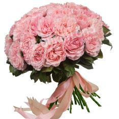 Букет из 35 пионовидных роз фото