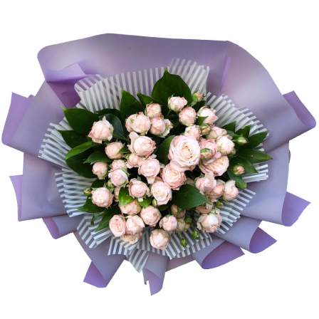 Bouquet of 7 spray roses Bombastic photo