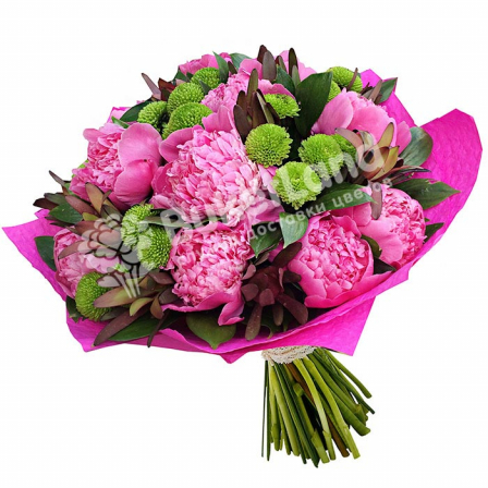Bouquet of pions «Formula of love» photo
