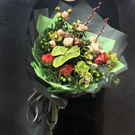 Букет цветов «Акварель» фото