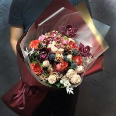 Букет цветов «Бордо» фото