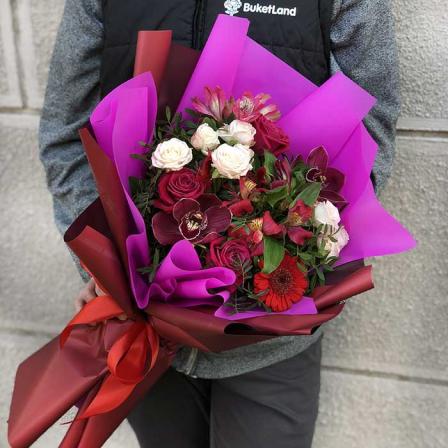 Букет цветов «Чистая любовь» фото
