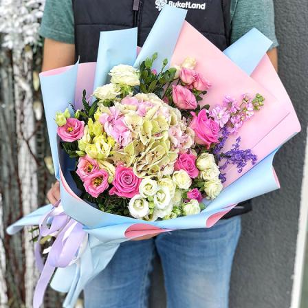 Букет цветов «Кантри Шарм Экзотик» фото