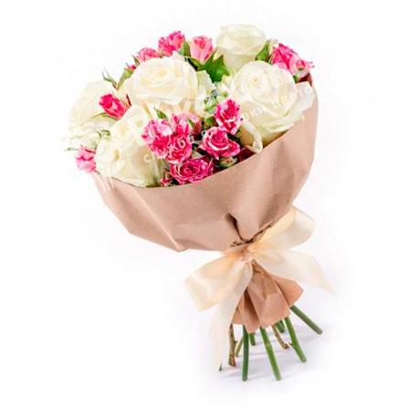 Букет цветов «Лёгкость» фото