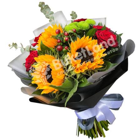 Букет цветов «Лето» фото