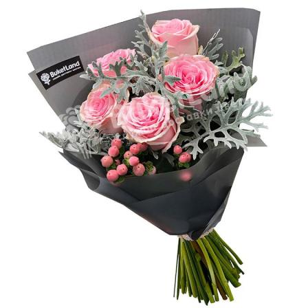 Букет цветов «Мальвина» фото