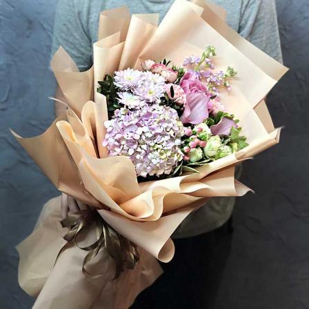 Букет цветов «Невесомость» фото