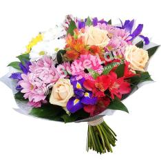 Букет цветов «Первый поцелуй» фото