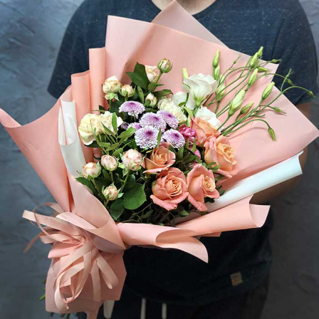 Букет цветов «Пломбир» фото