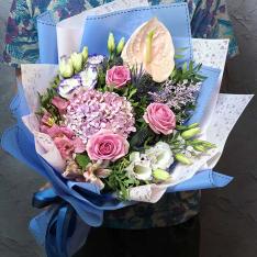 Букет цветов «Розовые щечки» фото
