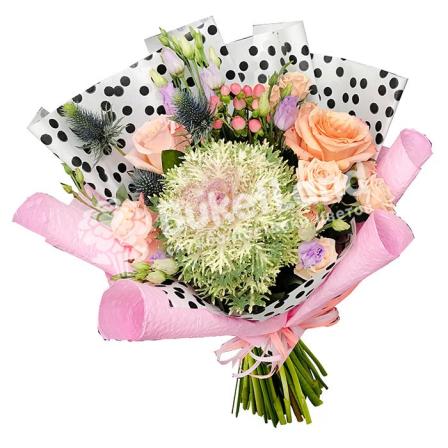 Букет цветов «Сладкая вата» фото