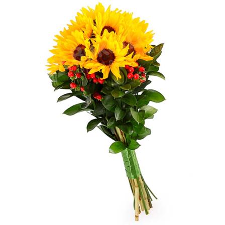 Букет цветов «Солнечный лучик» фото