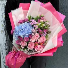 Букет цветов  «Страстное утро» фото