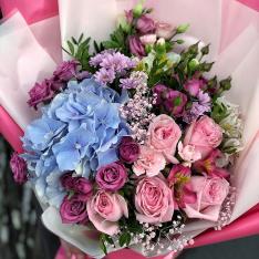 Букет квітів «Пристрасний ранок» фото