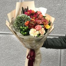 Букет цветов «Тихий вечер» фото