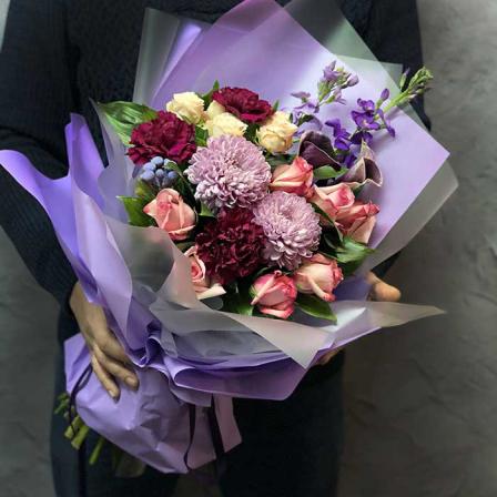 Букет цветов «Яркая любовь» фото