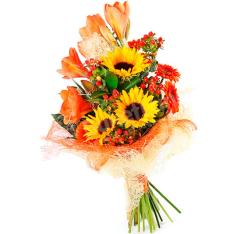 Букет цветов «Яркие моменты» фото