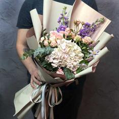 Букет цветов «Зефирный поцелуй» фото