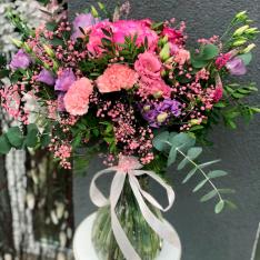Букет цветов «Жозефина» + ВАЗА В ПОДАРОК фото