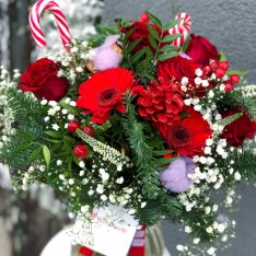 Зимовий букет «Різдвяний настрій» + ВАЗА В ПОДАРУНОК фото