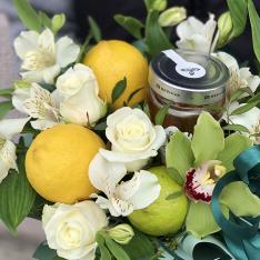 Фруктово-цветочный микс «Медовая весна» фото