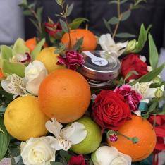 Фруктово-цветочный микс «Цветотерапия» фото