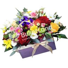 Композиция с цветами «Аромат весны» фото