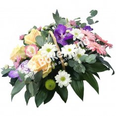 Композиция с цветами «Комплимент» фото