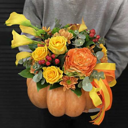 Композиция с цветами «Осень в красках» фото
