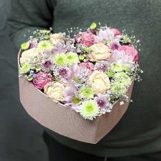 Коробочка с цветами «Аннет» фото