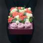 Коробочка с цветами и зефиром «Сладкоежка» фото