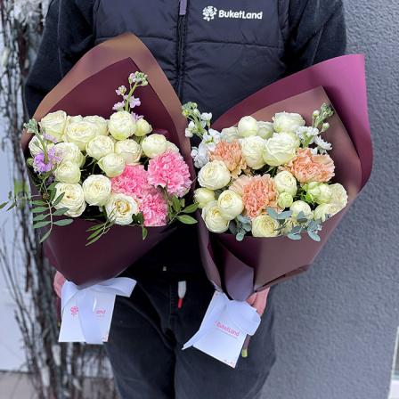 Букет от флориста в ассортименте «Нежное суфле» фото