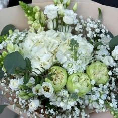 Букет цветов «Сливочный пломбир» фото