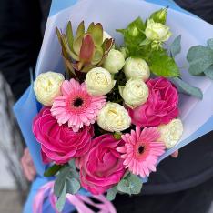 Букет цветов «Искорка радости» фото
