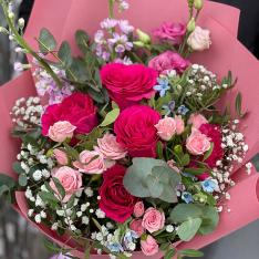 Букет цветов «Пламя любви» фото