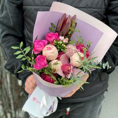 Букет цветов «Шепот сердца» фото