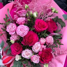 Букет цветов «Яркие лучи» фото