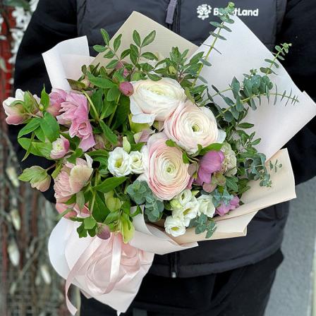 Букет цветов «Весенний Коктейль» фото