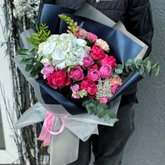 Букет цветов «Чудесный вечер» фото