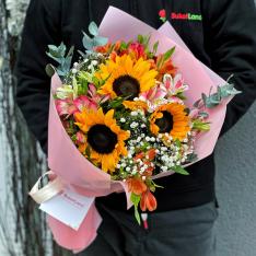 Букет цветов «Летняя нежность» фото