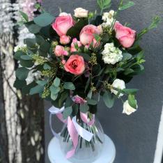 Букет цветов «Жизель» + ВАЗА В ПОДАРОК фото
