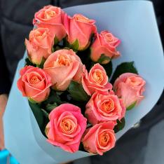 11 роз Мисс Пигги фото