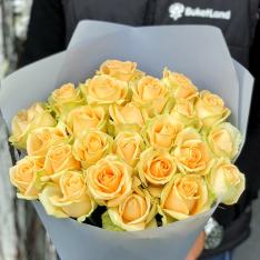 25 роз Пич Аваланч фото