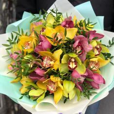 Букет з 25 орхідей мікс фото