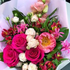 Букет цветов «Цветочный фейерверк»   фото