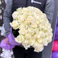 51 white rose 60 cm photo
