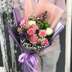 Букет цветов «В плену любви» фото