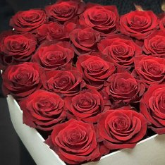 "Heart with red roses ""Geometry of Love"" photo"