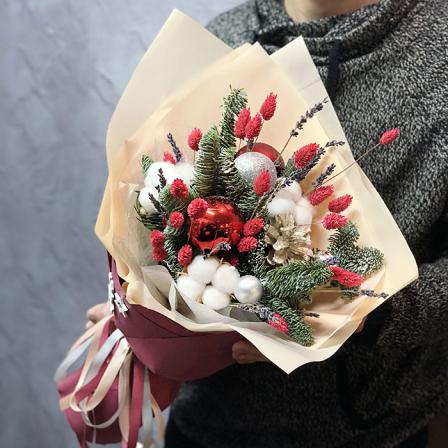 Зимний букет «Санта» фото